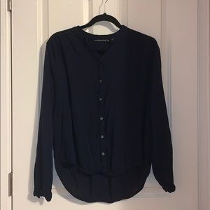 Abercrombie & Fitch navy garment shirt